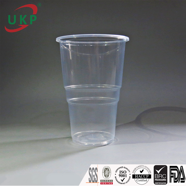 ukp cup, plastic cup 600ml, PP clear cup